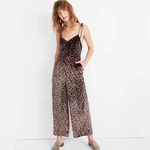 NWT Madewell Velvet Thistle Cami Floral Jumpsuit